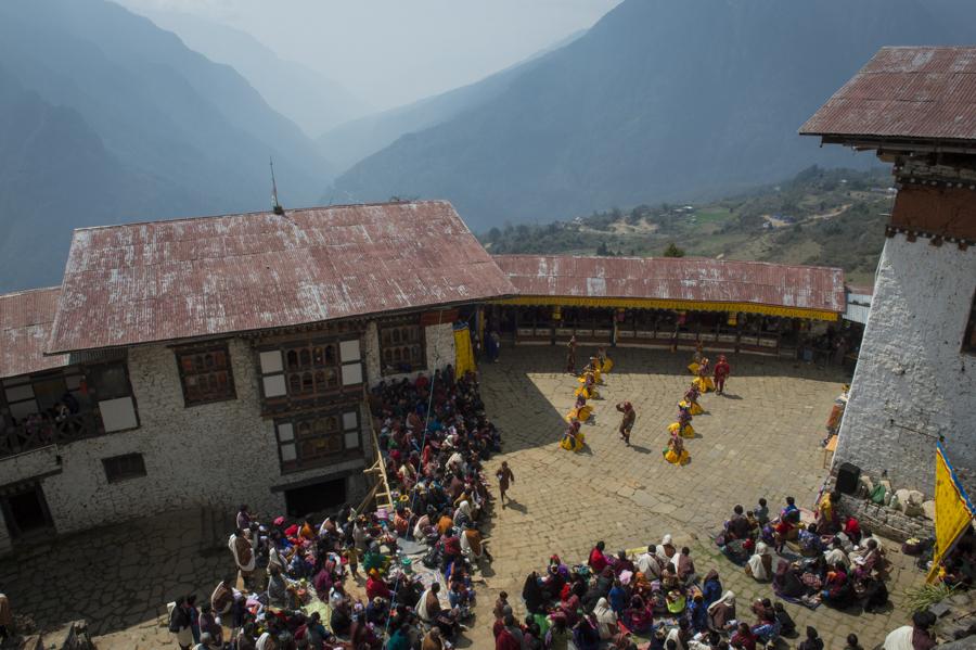 Gasa Tashi Thongmae Dzong with annual Teschu festival, Bhutan