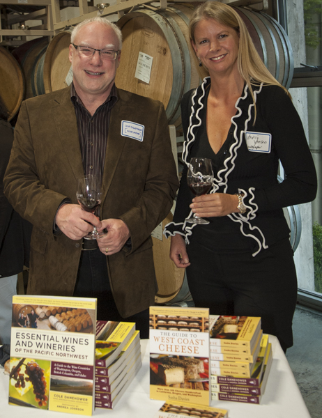 Cole Danehower & Andrea Johnson at Essential Wines & Wineries of the Pacific Northwest book signing September 9,  2010
