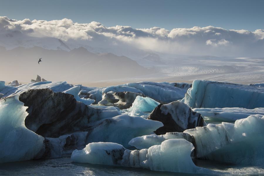 iceland, icebergs,  Jokulsarlon lagoon