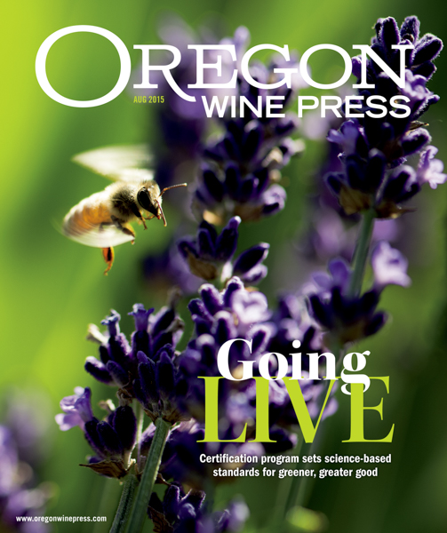 Oregon Wine Press Cover & Feature story