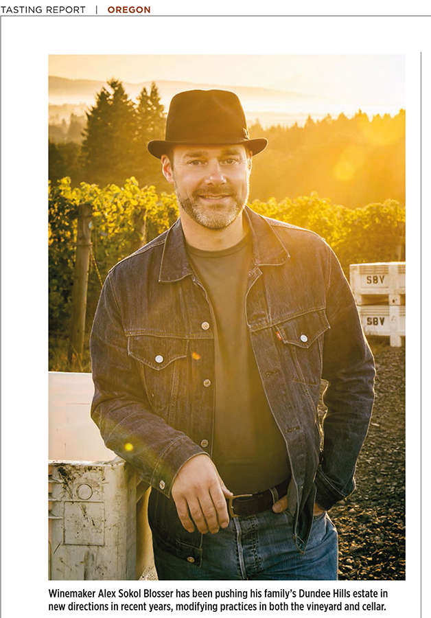 Wine Spectator Oregon Feature photos 2016, Alex Sokol-Blosser