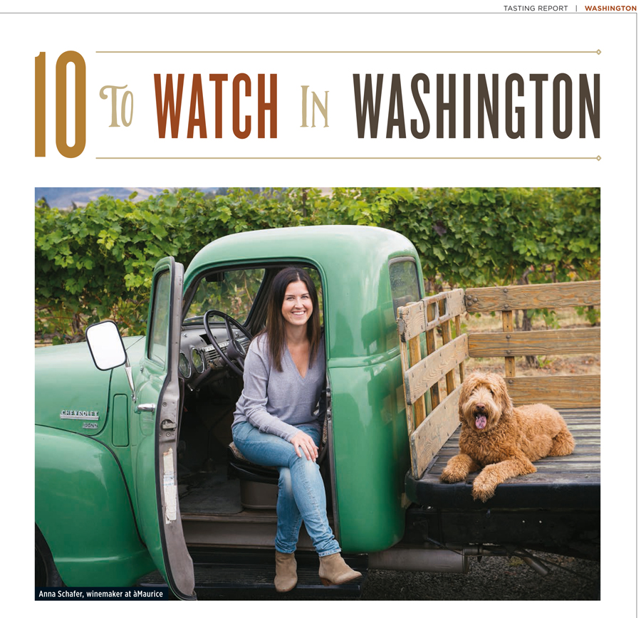 Wine Spectator Washington feature - Anna Schafer, åMaurice